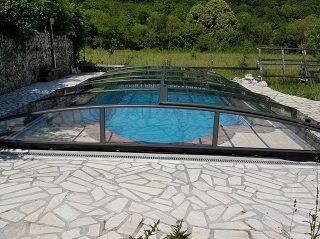 Acoperire piscina Azure Angle profile antracit