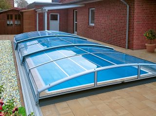 Acoperire piscina Azure Angle profile argintii