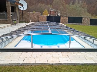 Acoperire piscina Azure Angle profile culoare argintiu
