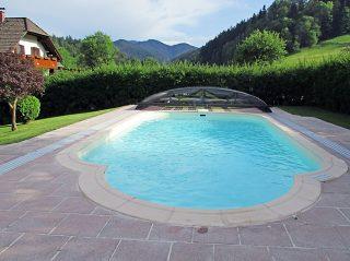 Acoperire piscina Azure Flat Compact complet retractata