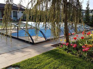 Acoperire piscina Azure Flat Compact design deosebit