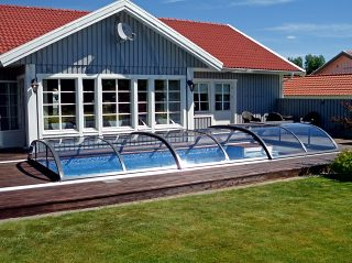 Acoperire piscina Azure Flat Compact impact vizual minim