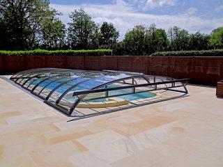 Acoperire piscina Azure Flat Compact perete frontal rabatabil