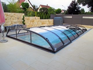 Acoperire piscina Azure Flat Compact profile antracit