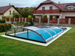 Acoperire piscina Azure Flat Compact vedere din fata