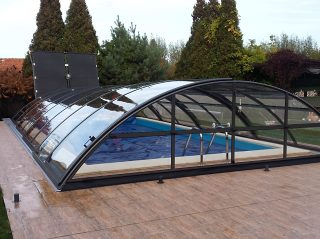 Acoperire piscina Azure Uni Compact complet inchisa