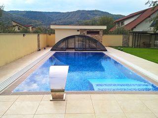 Acoperire piscina Azure Uni Compact complet retractata