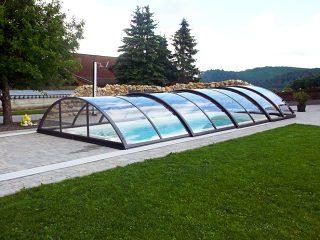 Acoperire piscina Azure Uni Compact cu prelungire sina