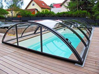Acoperire piscina Azure Uni Compact cu usa laterala glisanta
