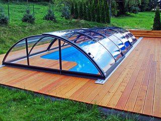 Acoperire piscina Azure Uni Compact montata pe deck