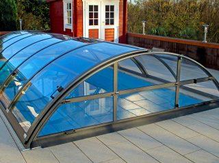 Acoperire piscina Azure Uni Compact perete frontal rabatabil