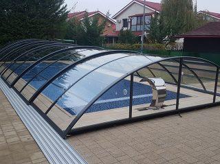 Acoperire piscina Azure Uni Compact policarbonat complet transparent