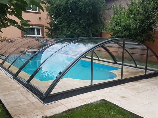 Acoperire piscina Azure Uni Compact profile antracit