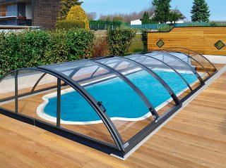 Acoperire piscina Azure Uni Compact profile culoare antracit