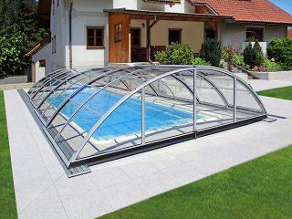 Acoperire piscina Azure Uni Compact profile culoare argintiu