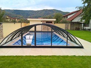 Acoperire piscina Azure Uni Compact vedere din fata