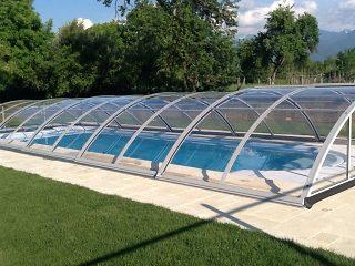 Acoperire piscina Azure Uni Compact vedere din lateral