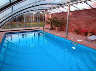 Acoperire piscina RAVENA - vedere din interior