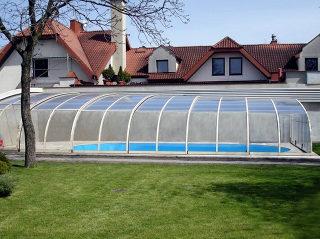 Acoperire piscina  STYLE vedere din interior