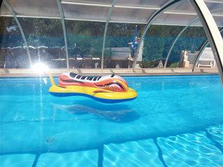 Acoperire piscina TROPEA vedere din interior