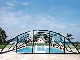 Acoperire piscina UNIVERSE culoare anthracit - spatiu interior