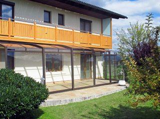 Acoperire retractabila pentru terasa CORSO Premium design deosebit
