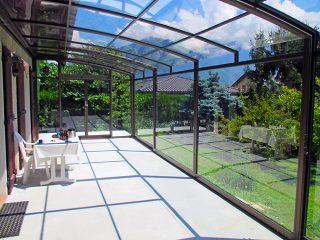 Acoperire terasa CORSO Premium vedere din interior