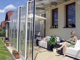 Acoperire retractabila de terasa CORSO cea mai buna extensie a casei