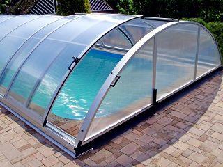 Acoperirere piscina Universe culoare argintie
