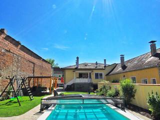 Pooltak VIVA ökar temperaturen på vattnet i din pool