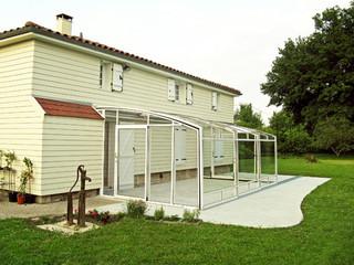 på vintern kan vara Skjutbara uterum CORSO används as storage för trädgård möbel