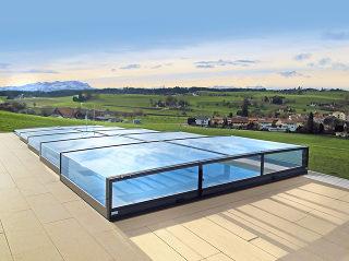 Pooltak VIVA TERRA - diskret täckning av din pool