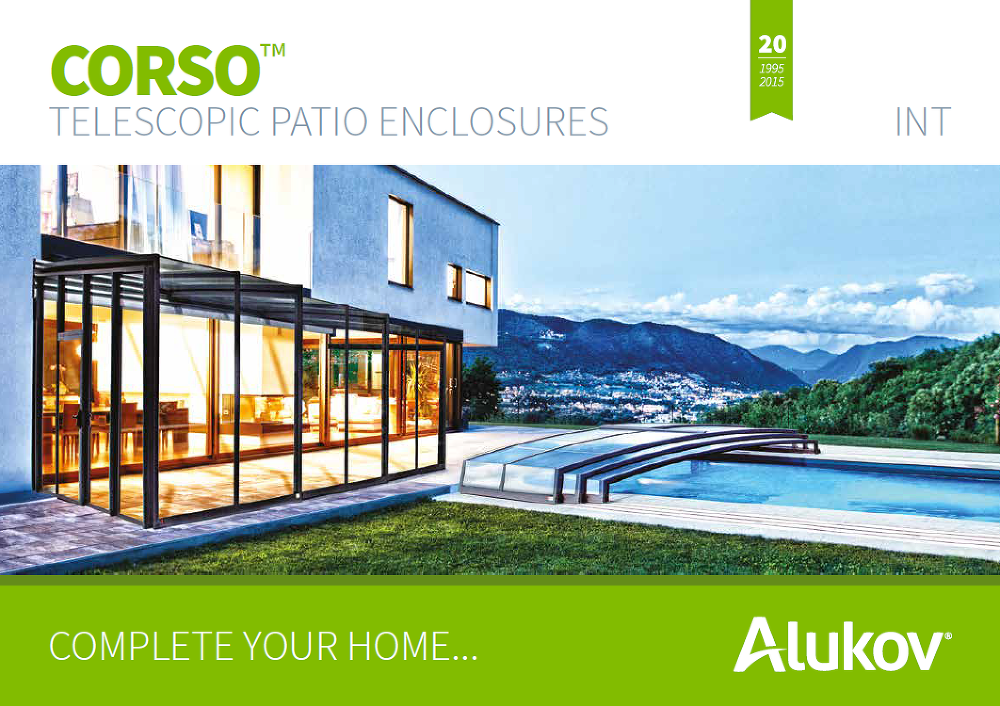 Catalog of patio enclosures CORSO for download