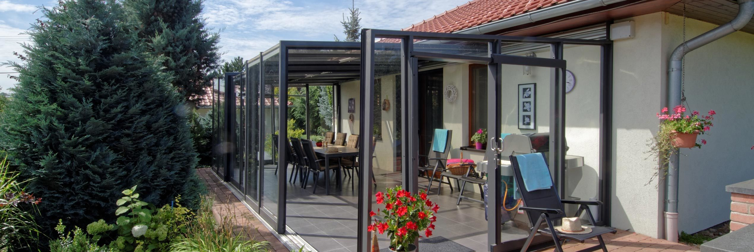 Closed patio enclosure CORSO Glass