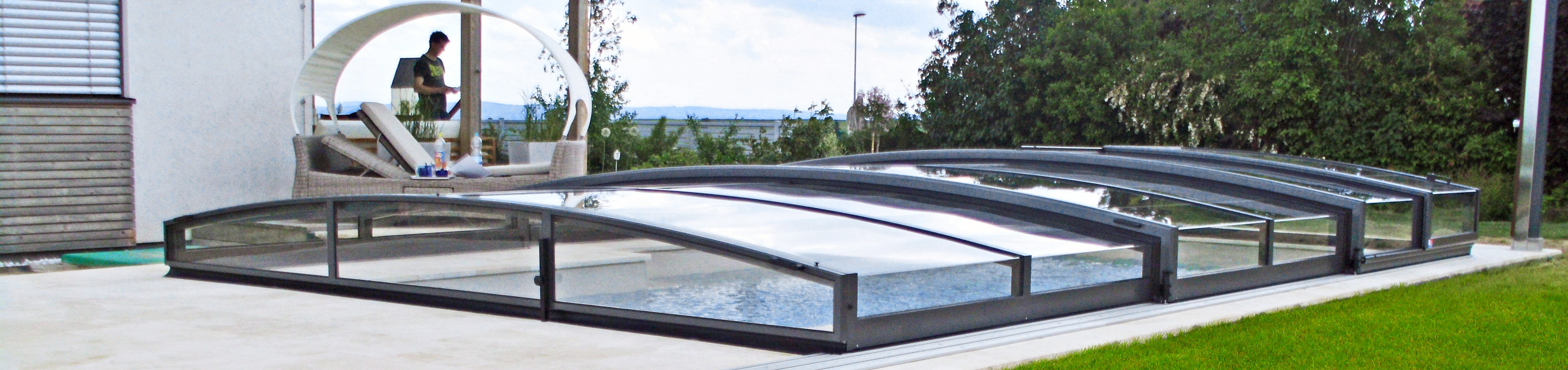 Low pool enclosure Viva from Alukov