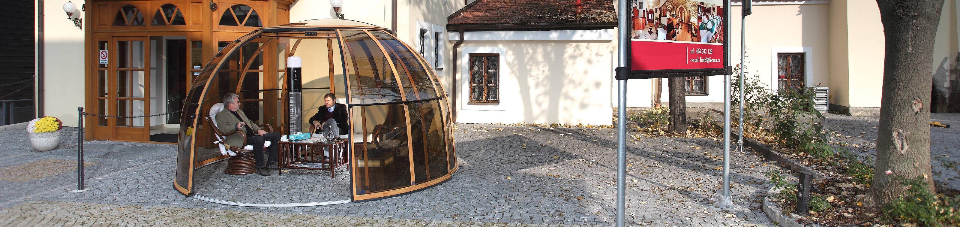 Opened garden pod