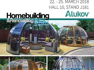 Alukov UK is exhibiting at Homebuilding & Renovating Show – NEC Birmingham 2018