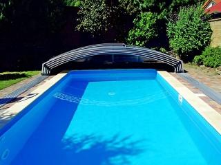 Fully opened pool enclosure Imperia NEO light