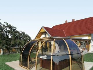 Sliding hot tub enclosure SPA SUNHOUSE by Alukov