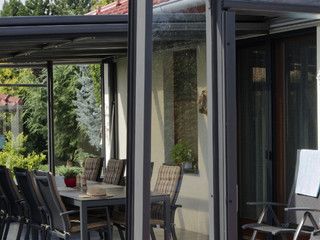 Opened patio enclosure CORSO Glass