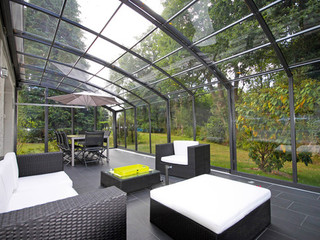 innovative conservatory patio enclosure corso solid photogallery