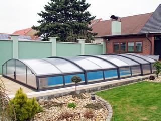 Retractable swimming pool enclosure IMPERIA NEO light