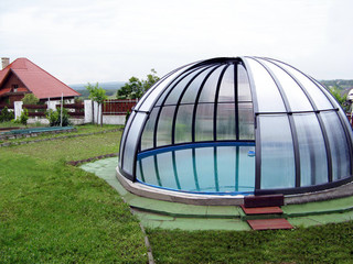 Oval pool enclosure ORIENT