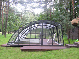 Inground pool enclosure RAVENA - opened