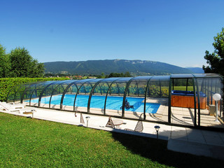 Inground pool enclosure UNIVERSE - white color