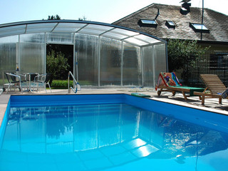 Swimming pool cover VENEZIA - anthracite color