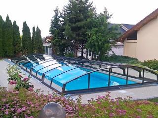 Retractable swimming pool enclosure Imperia