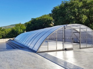 Retractable swimming pool enclosure Universe NEO