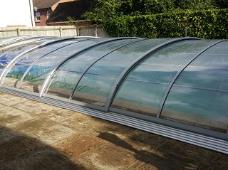 Swimming pool enclosure installation