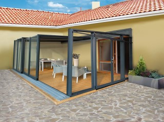 The most exclusive patio enclosure Corso Glass - anthracite finish